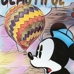 freetoedit hotairballoon minniemouse disney cartoondisney