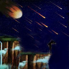 freetoedit remixed galaxy meteors edgeoftheworld