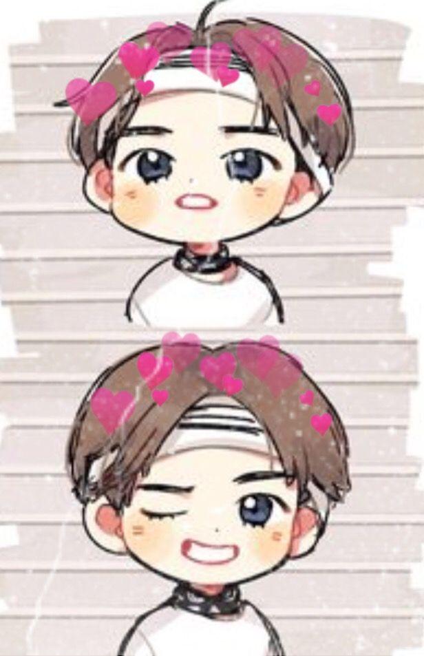 Bts Chibi Version Of Tae Tae Not My Artwork Just Edite