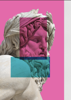 statue collage design art graphicart