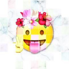 freetoedit emoji flowercrown marble offgrid