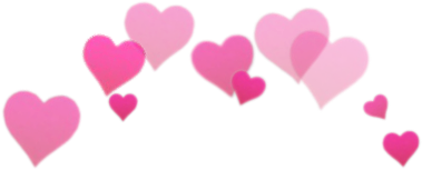 crown heart hearts pink colour
