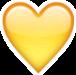 heart yellowheart emoji iphoneemoji freetoedit