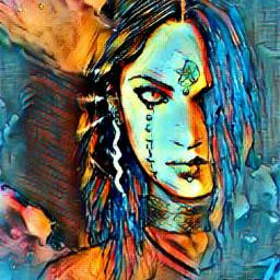 female warrior trueblue moodyblues