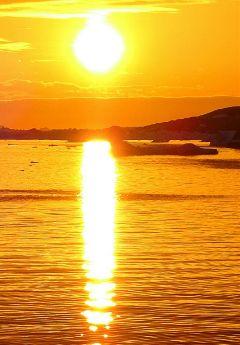 freetoedit ilulissat travel greenland sundown