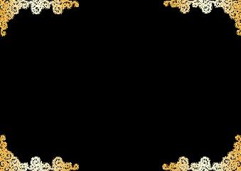 frame border gold goldframe swirl