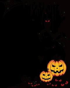 halloween spooky frame border ftestickers