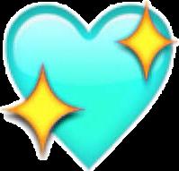 emojisticker emoji blue love heart