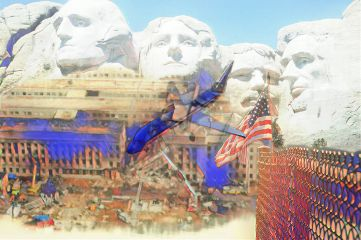 freetoedit mountrushmore 911 america flagdayremix
