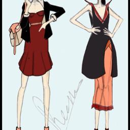 draw art design dresses fashion