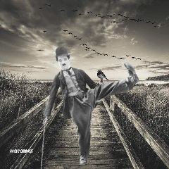 charliechaplin black remixed freetoedit