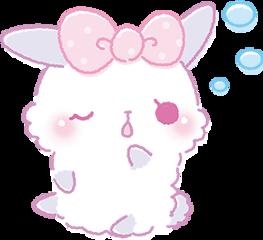 rabbit bunny bunnie cute kawaii freetoedit
