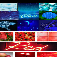 freetoedit blue red aesthetic