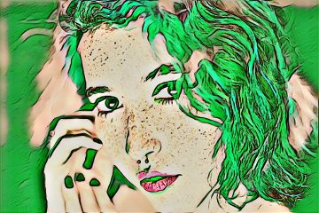 freetoedit green woman morethanskindeep