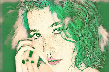 freetoedit remixit portrait green