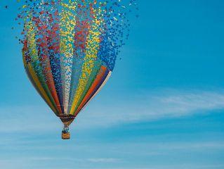 hotairballoon balloon sky colorful blue freetoedit