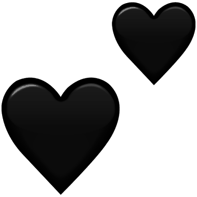Sticker Tumblr Emoji Hearts Corazones Heart Corazones Blacks 235439356056212 on Transparent Emoji Food