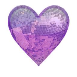 discoballstickerremix freetoedit purpleheart disco sticker