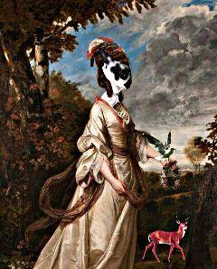 waprenaissancepets freetoedit masked lady rabbit
