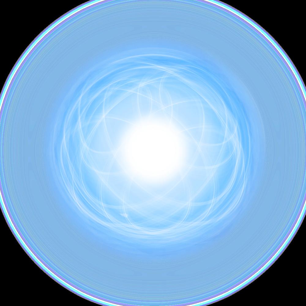 effect light ball circle blue magic effects glow fantas...