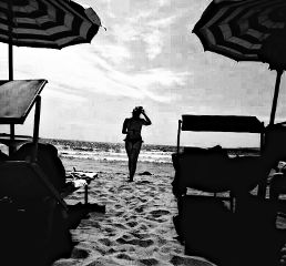 blackandwhite picsarteffects picsart sea beach freetoedit