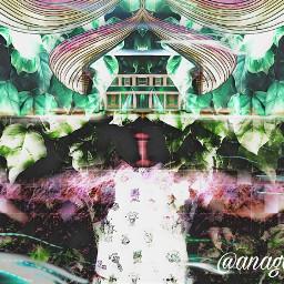 freetoedit leavesremix rainbowestickerremix house woman
