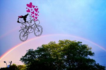freetoedit bicycle rainbow