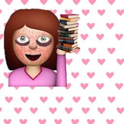 recreatedit darkcircle books emoji freetoedit