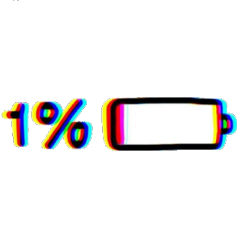 battery 1% aesthetic freetoedit 1
