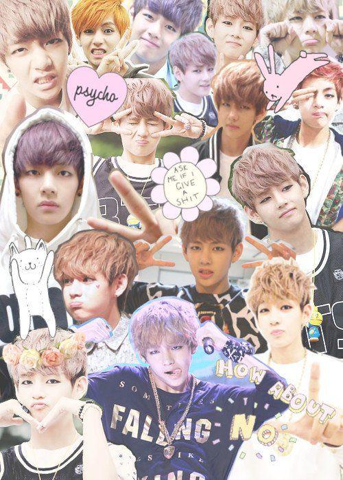 Bts V Taehyung Kimtaehyung Cute Fondo Wallpaper Freetoe
