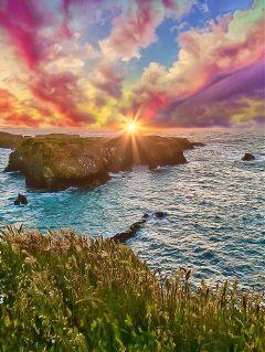 freetoedit clouds sunset sky sun