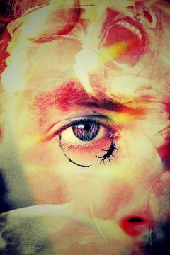 freetoedit man psychedelic eye canvas