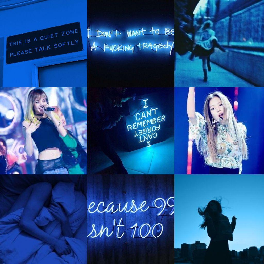 Jenlice Blackpink Jennie Lisa Jenlice Aesthetic Blue