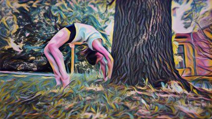 yoga highlight magic colorful summer