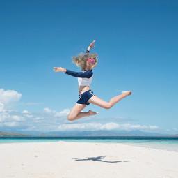 freetoedit jump girl young people