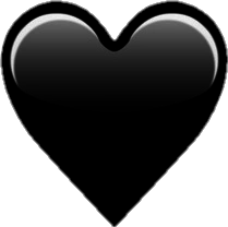 heart black freetoedit emoji remixit