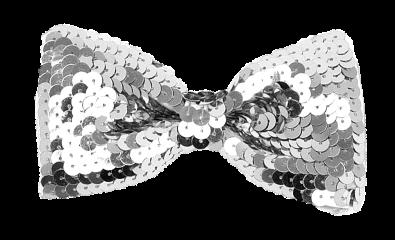 bowtie sequin silver