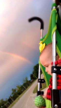 freetoedit rainbow baby colorful love