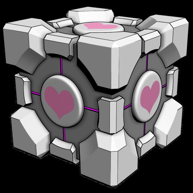 #Portal #Cube #Company #Glados #ApertureScience #halflife