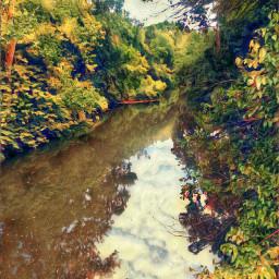 freetoedit godscreation oneofmanywaterwaysthatleadtothedelawareriver trees blueskys