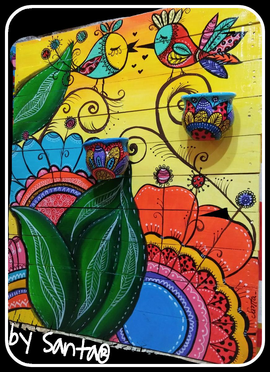 #palets #recycle #art #bysanta