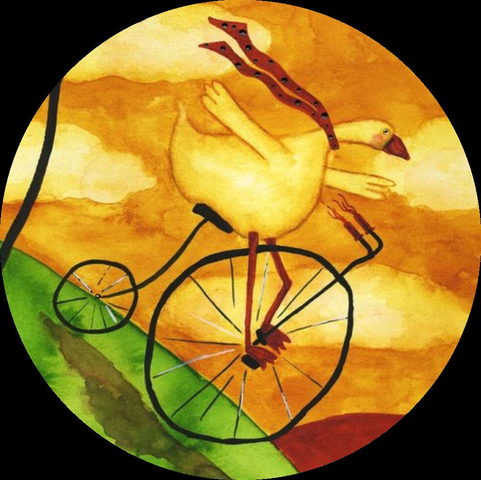 #stickers #bike#goose#painting#art