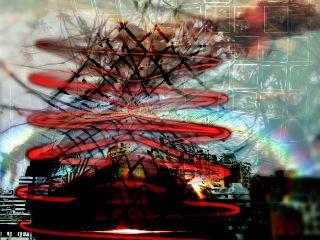 skylineremix abstract spiral city net freetoedit