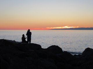 people silhouette sunset freetoedit