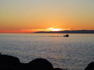 sunset boat silhouette freetoedit