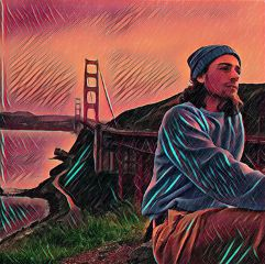 freetoedit goldengatebridge man