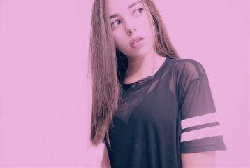 pink colorful blackandwhite cute retro