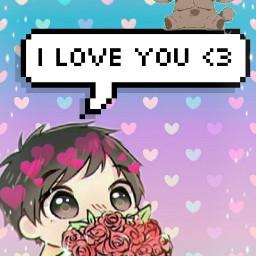 freetoedit iloveyou kawaii cute speechbubble