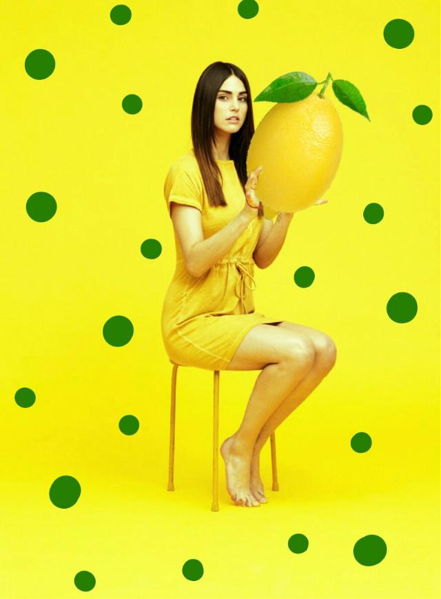 #giantfruits #lemon #yellow #dots