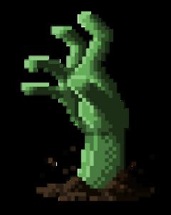 ftestickers zombie hand pixel green